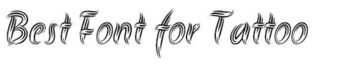 tipos de tatuajes, ejemplo de fuente para tatuajes con letras redondeadas, plantilla en blanco y negro