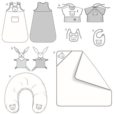 Sleep Sack Pattern Baby Sewing Patterns For Baby