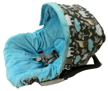 Citron Zoology Infant Car Seat Cover from Posh Little Shop