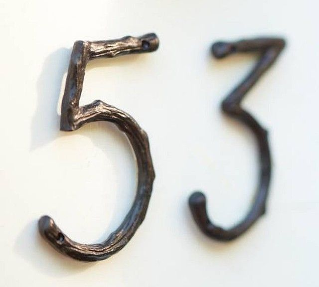 Branch House Numbers eclectic house numbers