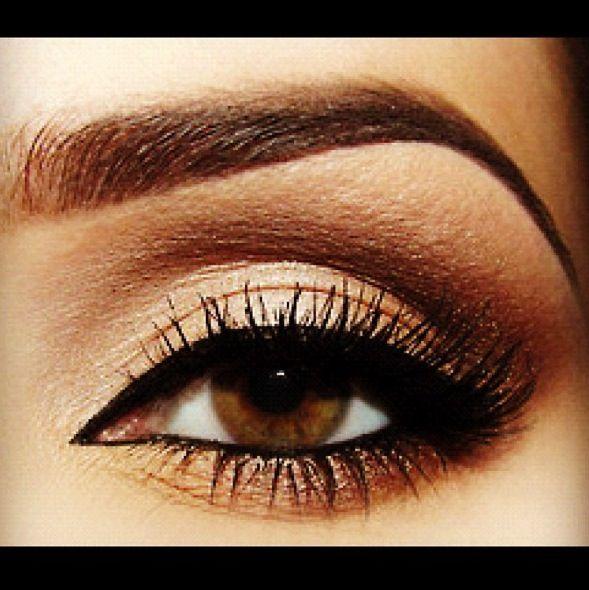 golden makeup for brown eyes makeup pinterest