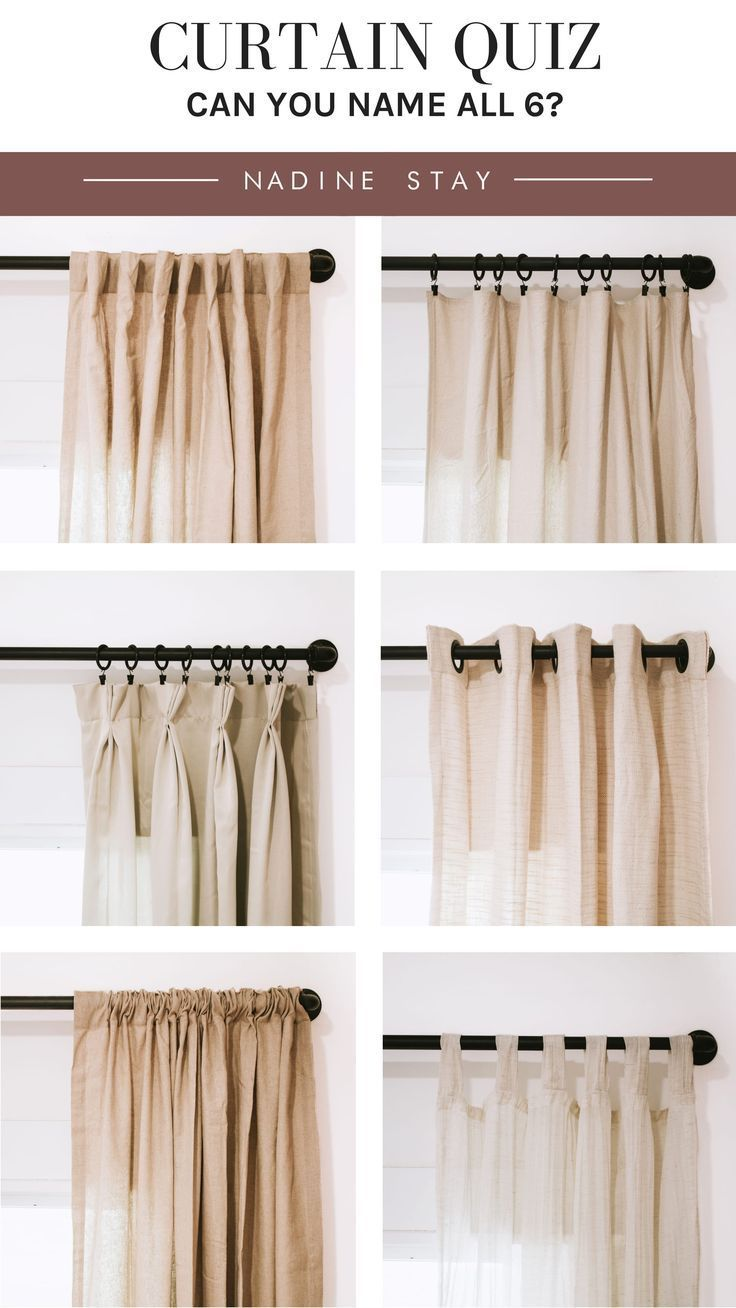 Curtain Quiz Can You Name All 6 Curtain Styles How Much Do You