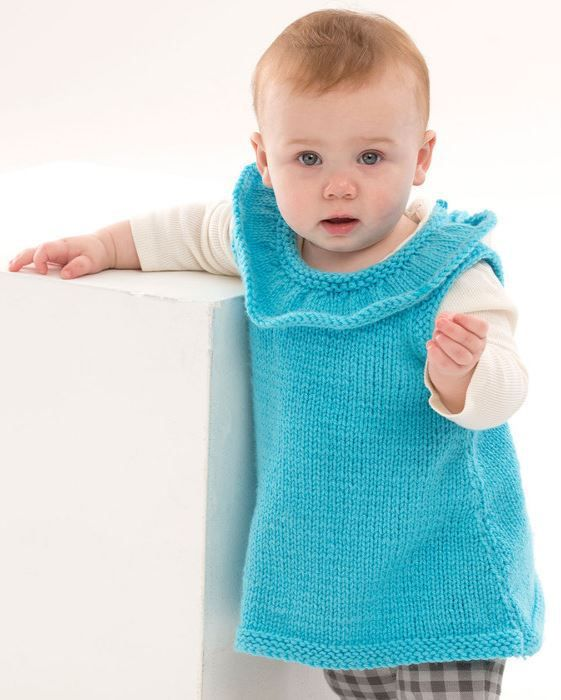 Knitting Pattern Baby Undershirt : Free knitting pattern for Rockin the Ruffles Tunic baby vest - Jodi Lewanda a...