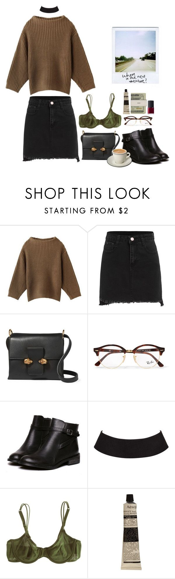 """the lumineers-sleep on the floor"" by paramorebianka ❤ liked on Polyvore featuring Alexander McQueen, Ray-Ban, Cosabella, Aesop, Jack Spade and NARS Cosmetics"
