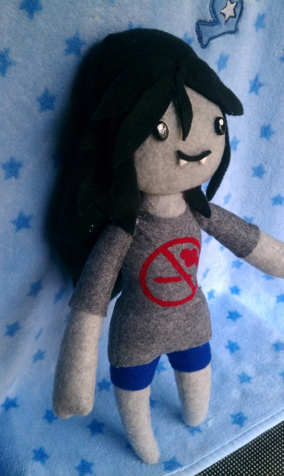 MADE TO ORDER, Inspired by Adventure Time, Marceline Plush :3