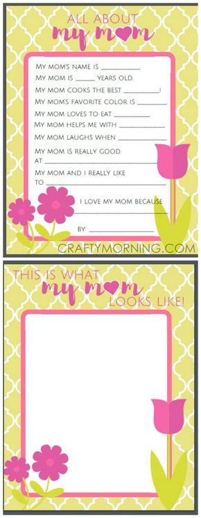All About Mom Grandma Free Mothers Day Printables