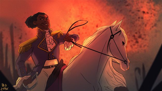 Can't you just SEE it? America's Favorite Fighting Frenchman riding around like a damn Disney prince while spitting fire?