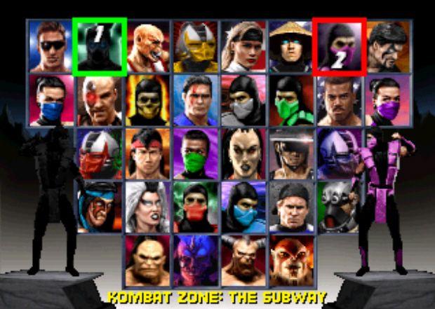 Mortal Kombat character thumbnails