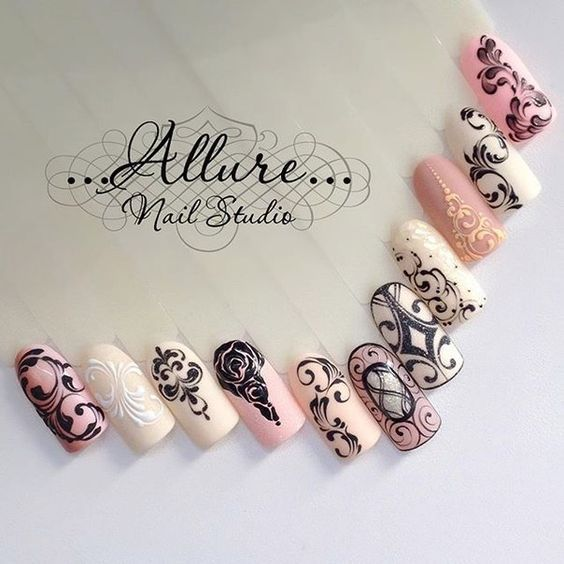 97 best nail art images on pinterest nail art fingernail love these filigree nail designs prinsesfo Choice Image