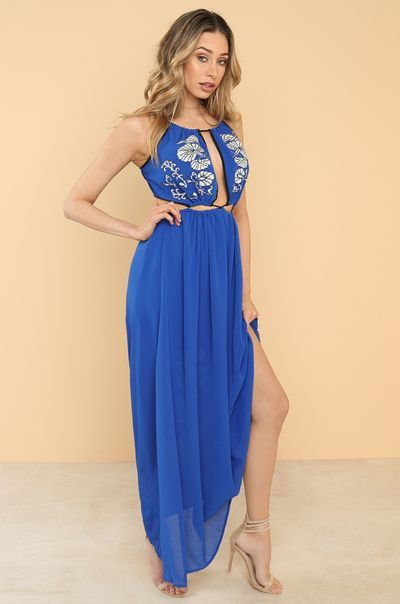 Pull It Together Dress - Blue