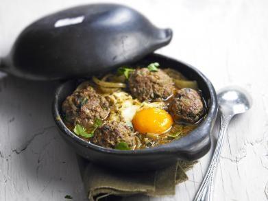 Tajine met lamsgehakt en eieren