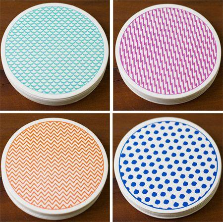 Lottie Loves...: {Paper} Sesame Letterpress Coasters