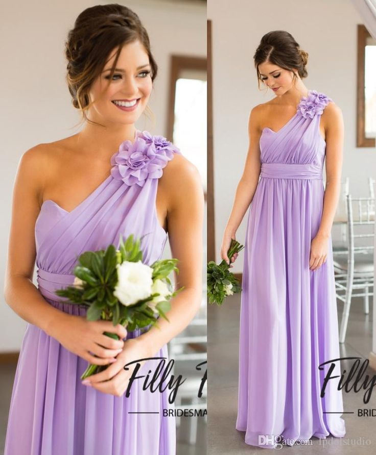 Lilac Bridesmaid Dresses Country Bridesmaid Gowns One Shoulder 2017 New Arrival Summer Long Bridesmaid Dresses Cheap Bridesmaid Dresses Country Bridesmaid Dress Cheap Bridesmaid Dress Online with $89.0/Piece on Lpdqlstudio's Store | DHgate.com