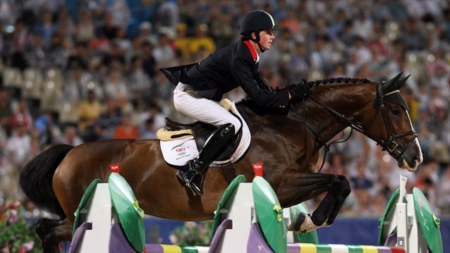 Ben Maher and Rolette at the Beijing Games - 2008. Naughty Horsey. www.naughtyhorsey.com