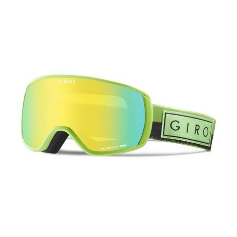 Giro Men's Balance Snow Goggle - Lime Mil Spec / Loden Yellow: Giro `s new Balance goggle delivers on the promise of a classic full frame…