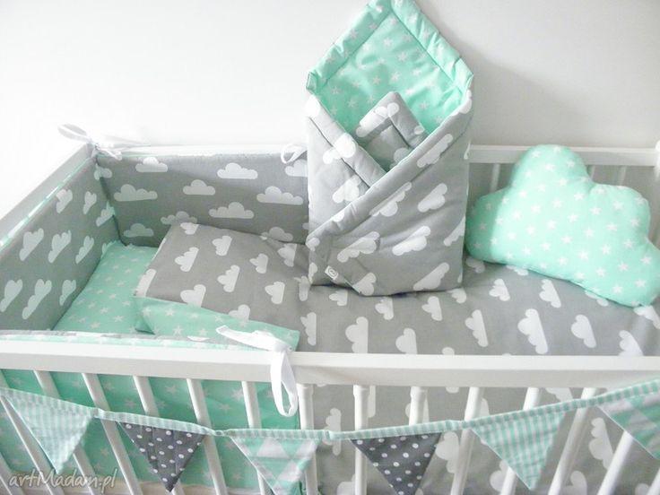 turkusowe pokoik dziecka łóżeczka 90x120 2 el. pościel do
