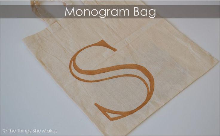 The Things She Makes: Monogram Tote Bag