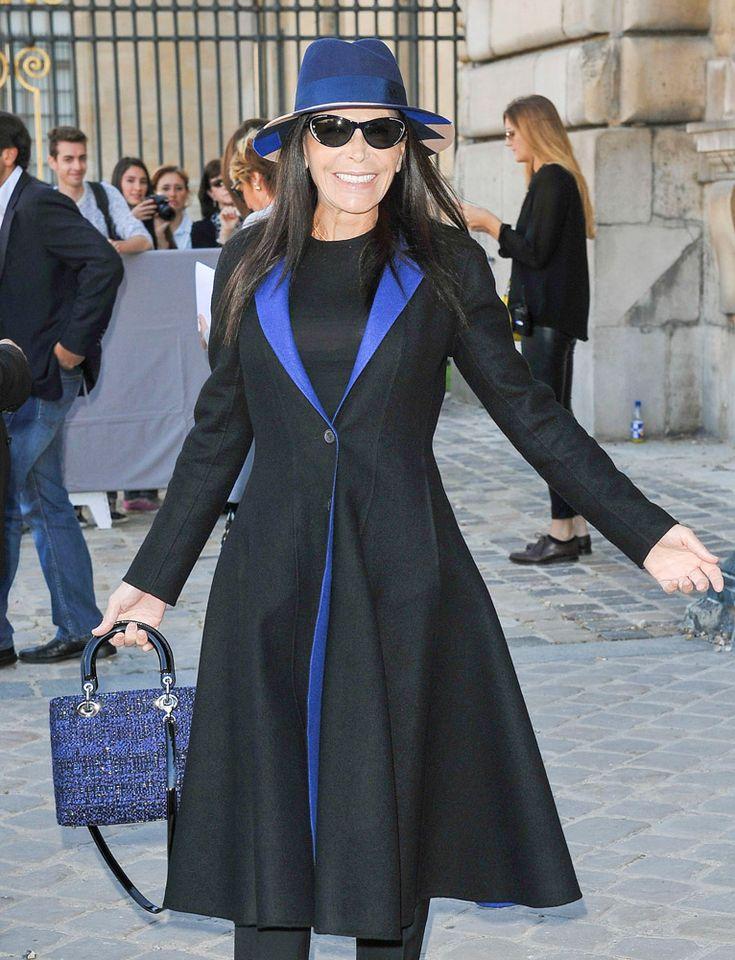 Celebrity Handbags Paris Fashion Week Spring 2015. Mouna Ayoub. Christian Dior Lady Dior Bag