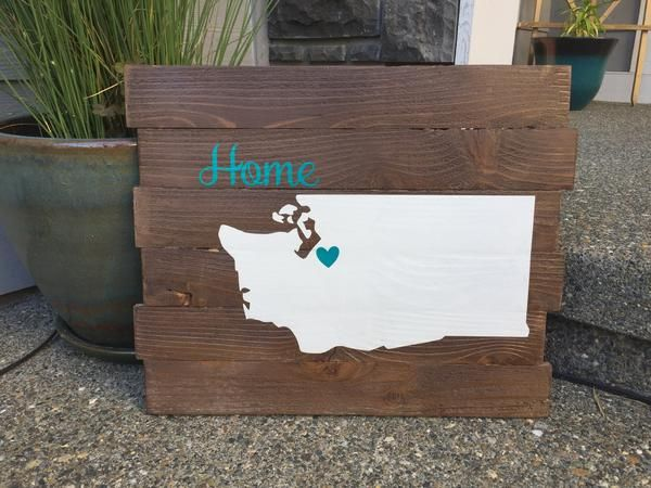 These signs are hand-built, hand made & very high quality sign! Put YOUR State or Country on a hand made pallet. It is truly an amazing piece! This beautiful custom sign will sure be a conversation piece in your home! These are hand painted, lightly sanded and made from new wood right here in the heartland of America, then the vinyl wording and top seal coat is applied by our expert staff.Features:  Made Of Beautiful Wood Vinyl Wording Hand Painted Lightly Sanded Clear Top Sealer Coat...