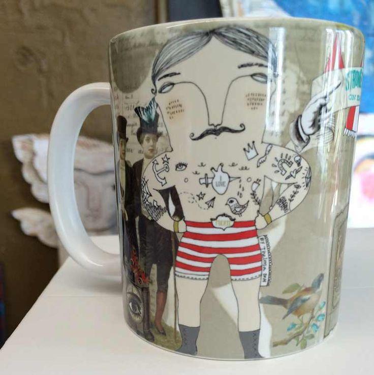 Fuerte - Strongest man on Earth, mug. Illustration by Thelma