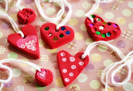 Cute craft for Valentines or even Mothers day!: Valentines Crafts For Teacher, Crafts Ideas, Kids Heart Crafts, Air Dry Clay Ideas For Kids, Preschool Teacher, Heart Necklaces, I Special Art Ideas Preschool, Valentine Ideas, Teacher Gifts Valentines Day