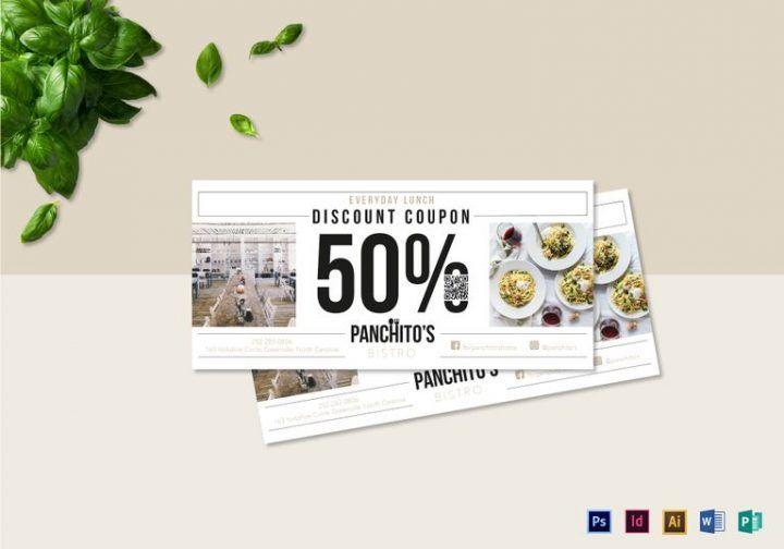 Appetizing Food Coupon Designs  Templates #CouponTemplates