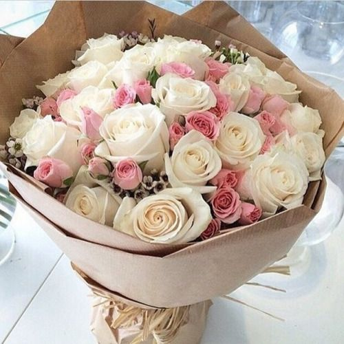 ♔ Flowers wrapped in paper