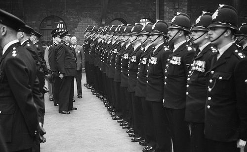 July 24 1953 - sixty years ago today - saw officer and vehicles of the former Oldham Borough Police polished and ready for inspection by one of Her Majesty's Inspectorate of Constabulary (HMIC). The force's photographer recorded the entire event, also attended by the Mayor of Oldham and other local dignitaries. http://www.gmpmuseum.com