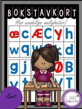 Her får du alfabetkort. Vokalene er rød, og konsonantene er blå. Det er også med tips til leker og aktiviteter. Laminer og send med hjem sammen med aktivitetene eller bruk de på skolen. Disse kortene har uendelige muligheter! Sjekk ut Øve, øve, øve Bokstavinnlæring!