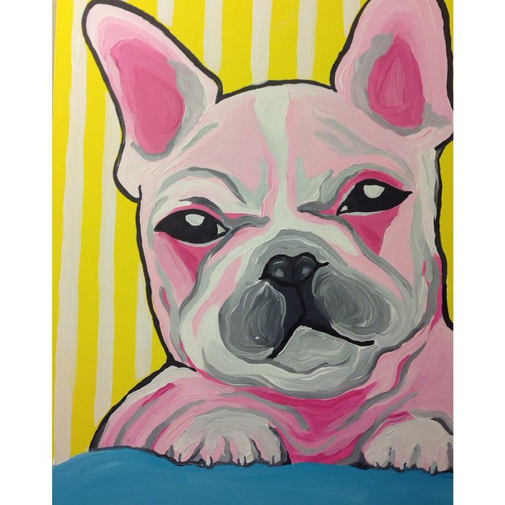 #Bulldogs #painting #paint #art #acrylic #love #dogs #pink #puppies