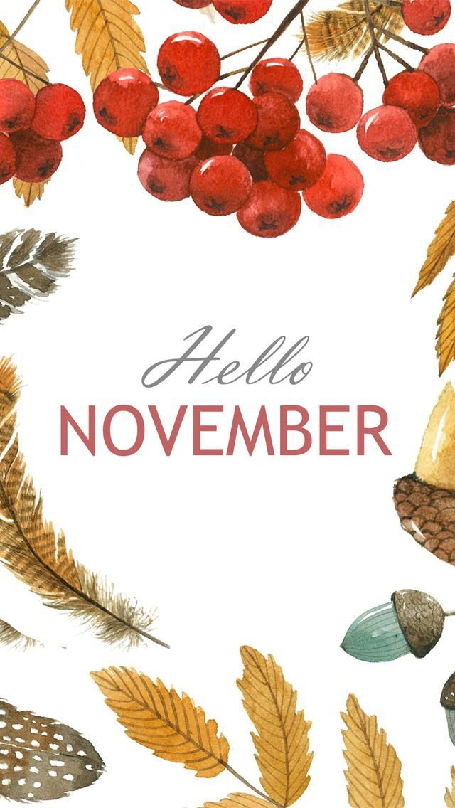 Wallpaper iPhone/hello November ⚪️