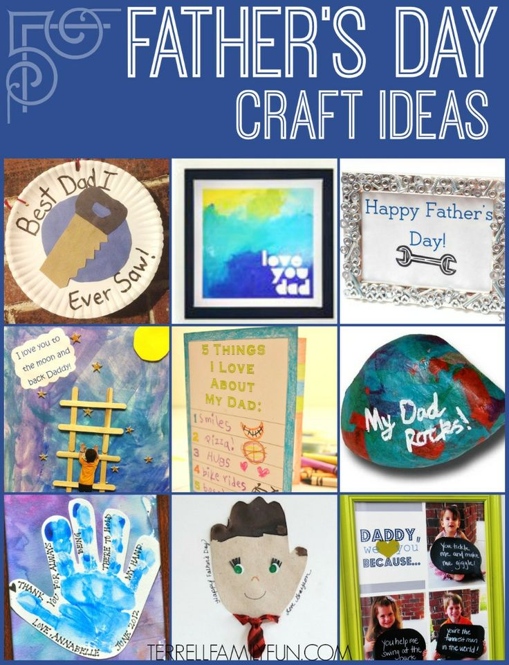 Kids DIY Father's Day Craft Ideas