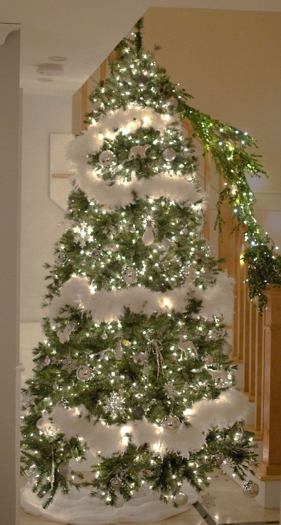 Christmas tree feathers white christmas pinterest