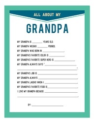 All About Grandpa Father's Day Printable