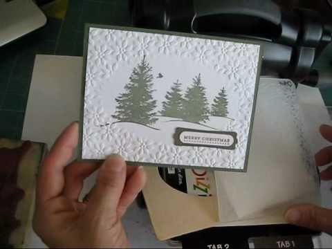 ▶ Stampin'Up! Open Frame with embossing Floder www.frenchiestamps.com - YouTube