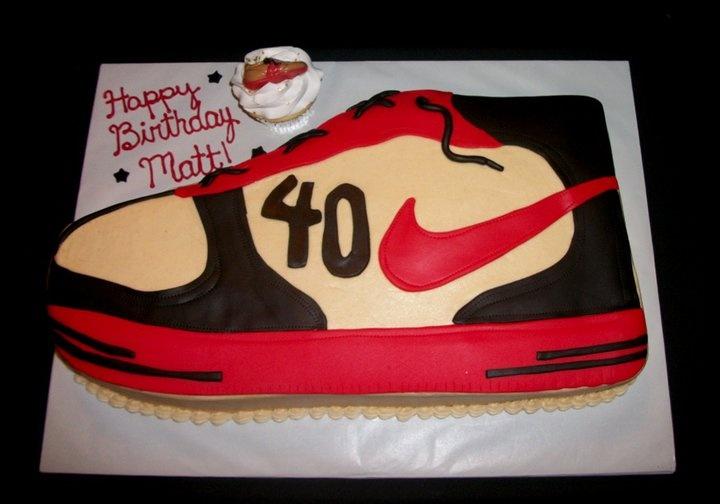 Nike shoe cake and matching cupcake. Mama Mia s Cakes ...