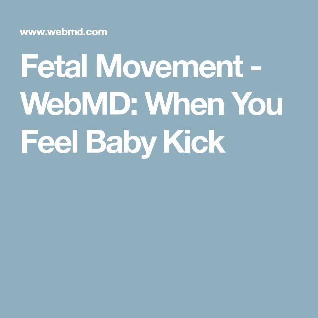 Fetal Movement - WebMD: When You Feel Baby Kick
