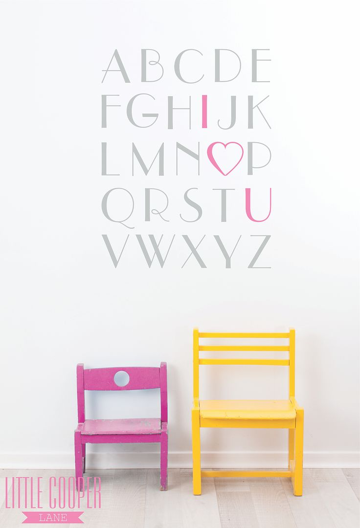 Educational AND super cute!!! Removable Vinyl Wall Decal.