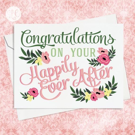 Congratulations Wedding Card Wedding Card Engagement Card