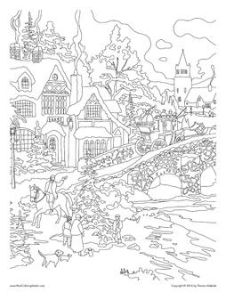 Thomas Kinkade Coloring Book Fresh City Coloring Pages From Travel