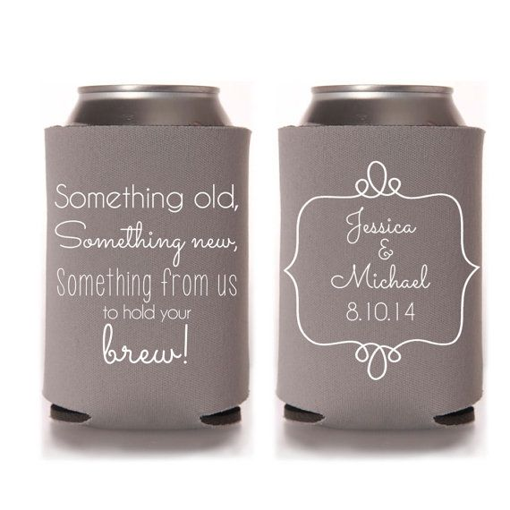 Personalized Can Coolers ~ Wedding favors personalized something old new