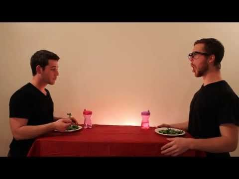 Two guys demonstrating how animals eat. Seriously, too funny!