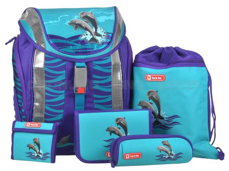 Step by Step Flexline HAPPY DOLPHINS - Schulrucksack Set 5-teilig Schulranzen - Delphin 119707