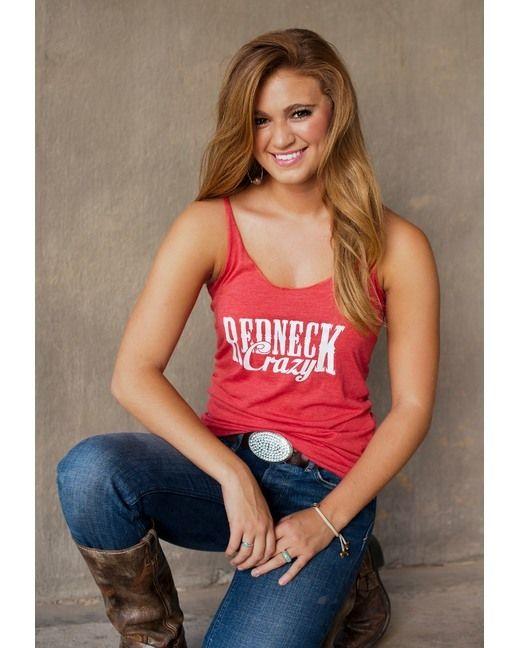 Sweet Tee Studio Women's Redneck Crazy Tank - Red