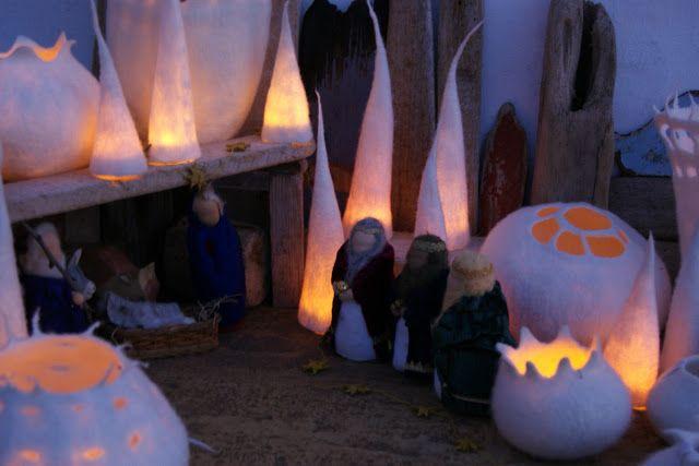 Anu Völp felt sculptures: luz