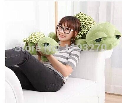 Около 35 см плюшевые черепаха игрушка большие глаза черепаха кукла подарок на день рождения w5812