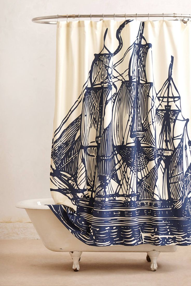 Elizabethan Sails Shower Curtain - anthropologie.com