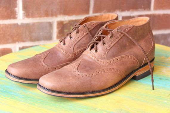 Handmade ankle oxford leather shoes for men Made to by Andasolo