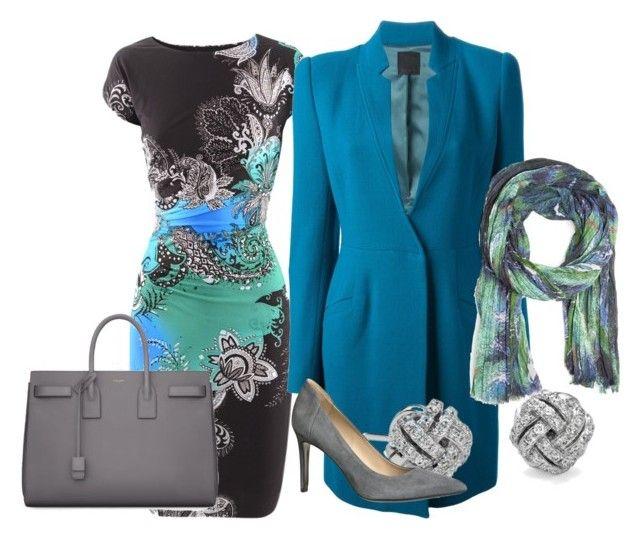 Fantasy by mylittlestar on Polyvore featuring polyvore fashion style Etro Pinko By Malene Birger Yves Saint Laurent Blue Nile MANGO clothing