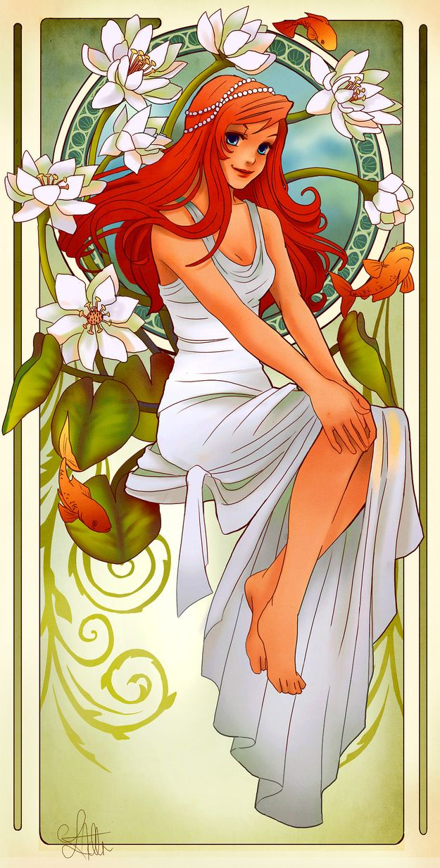 | These Mucha-Inspired Disney Princesses Are Stunning